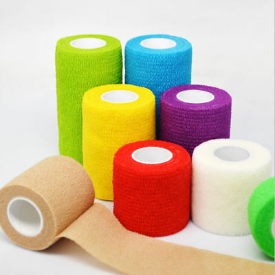 1 Roll Elastic Wrap Bandages Colorful Anti-slip Sports First Aid Gauze Tape Wrap