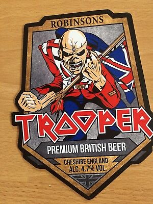 Robinsons Iron Maiden Trooper Real Ale Badge (New)