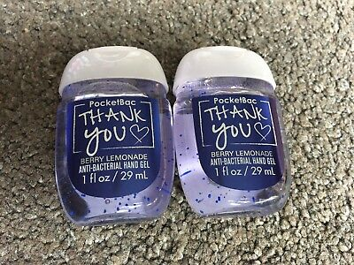 Bath & Body Works 2x Anti-Bacterial Hand Gel USA Thank You Berry Lemonade