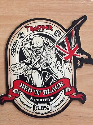 Robinsons Iron Maiden Trooper Red And Black Real Ale Badge (Used)