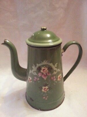 Cafetiere Emaille Verte