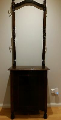 Antique Hall Stand with Cupboard