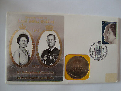 Rare 1972 British Crown / 5 Pound Coin - Mint In First Day Cover