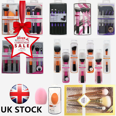 Real Techniques Makeup Brushes Core Collection/Starter/Travel Essentials Set *UK