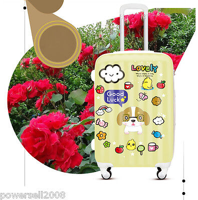 """20"""" Universal Wheel ABS+PC Travel Suitcase Luggage FLL00902 """"Cute Dog""""  LLX"""