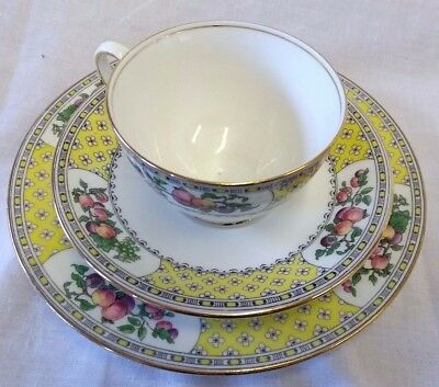 Rare Antique Aynsley Normandy 3 Pce Tea Set: Cup, Saucer & Side Plate - Adams