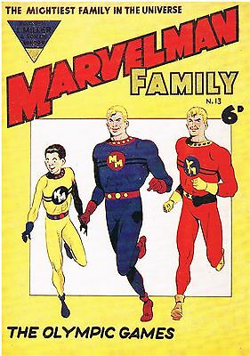 MARVELMAN FAMILY No.13 POSTER REPRODUCTION 27 x 19cm