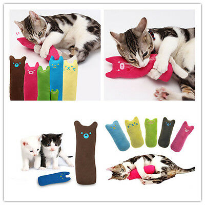 10 cm Pet Cat Teeth Grinding Toys Interactive Fancy Claws Pillow Rose Red