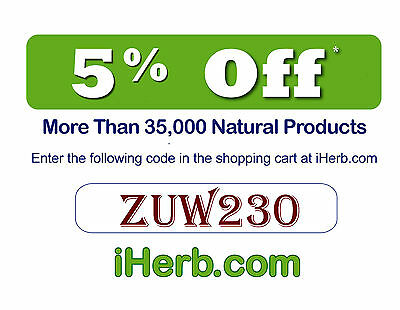 COUPON 5% OFF NATURAL ORGANIC NUTRITION DIETARY (iHerb.com) Organic Supplement