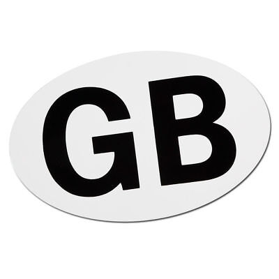 Fully Gb Sticker Magnetic Great Britain Magnetic Plate Badge Oval Travel Abroad