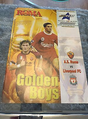 Roma v Liverpool Champions League programme 5.12.2001