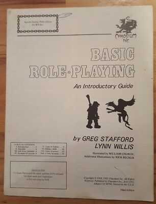 Basic Role Playing,An intro guide Greg Stafford 3rd Edition 1980 Special fantasy