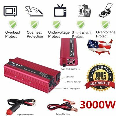 6000W Peak Solar Power Inverter 12V DC 110V AC Modified Sine Wave Converter UU