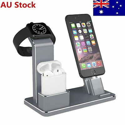 Charging Dock Night Stand iwatch Charger Holder fr Apple Watch/AirPods/iPhone AU