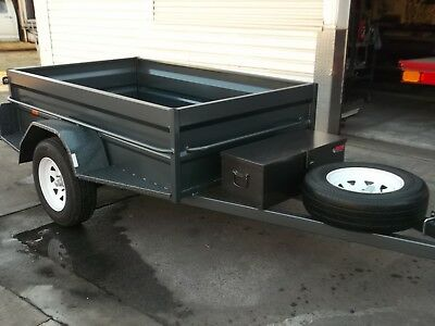 Custom 7x4 Camper Style Trailer With Plenty Of Extras Included.