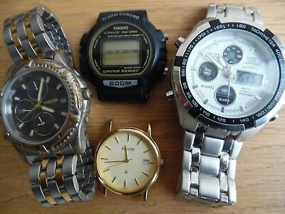 4 Mixed   Watches  Casio Pulsar Accurist Eve Mon Cruis
