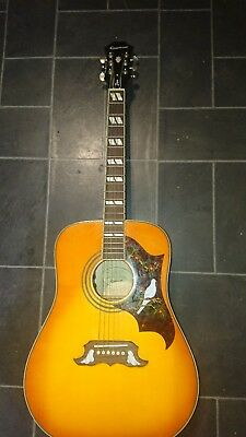 Epiphone Dove Pro. ELECTRIC ACOUSTIC. SERIAL NUMBER: 12092307578