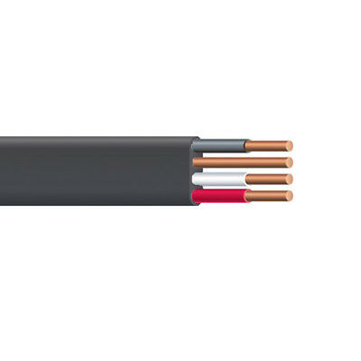 1000' 8 AWG 3C 8/3 NM-B Wire With Ground Black Non-metallic Sheathed Cable