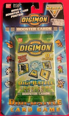 Digimon Series 1 Booster Sealed Green Package