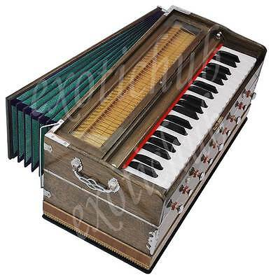 HARMONIUM BY KAAYNA MUSICALS~PRO GRADE~3½ OCTAVE~9 STOP~HAND MADE INDIAN~440Hz