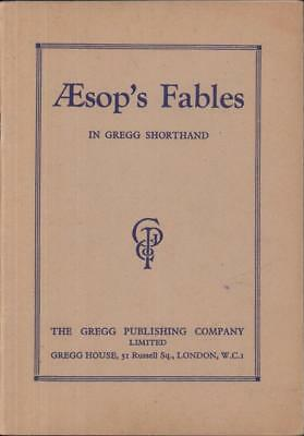 Aesop's Fables in Gregg Shorthand 1946 rare unusual stories Pitman Xmas gift