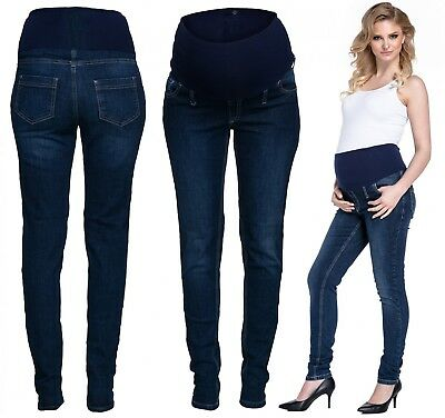 Happy Mama. Women's Maternity Denim Pants. AVAILABLE IN 3 LEG LENGTHS. 290p