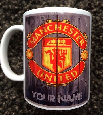 Manchester United Mug - Personalised - Your Name - Forever Manchester.