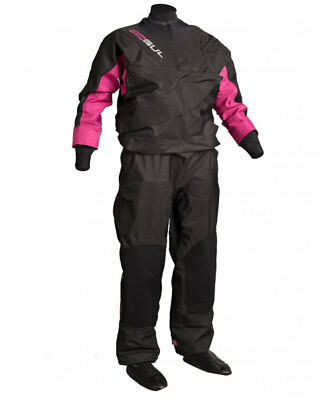 2017/18 Gul Dartmouth Eclip Zip Ladies Drysuit Black Pink