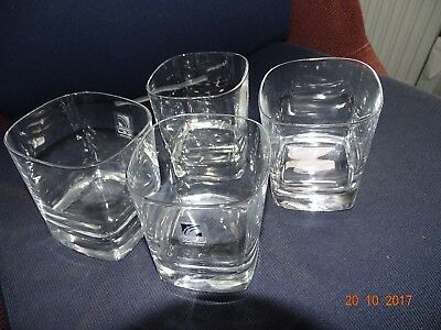 Crystal Whiskey Glasses (square) set of four