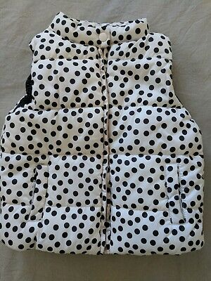 New Girls Cotton On Puffer Vest Jacket Polka Dot Size 4 Super Cute!