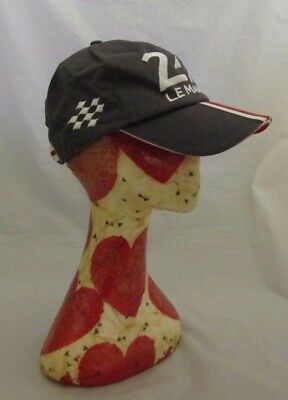 """Le Mans 24HR Cap Hat Size Approx 20"""" Grey Embroidered Detail Car Racing Sports"""