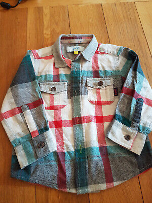Lovely Ted baker baby boy shirt VGC checked red & grey 12-18 months