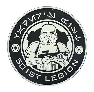 STAR WARS ARMY TACTICAL SPEC MORALE TACTICAL ISAF PATCH  white    HK   660