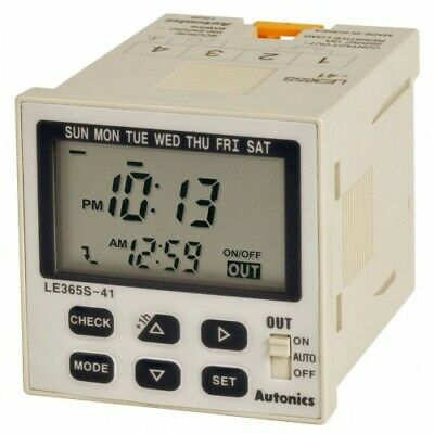 Digital LCD Weekly/Yearly Timer LE365S-41 1 SPST Outputs, 100-240VAC DIN W48XH48