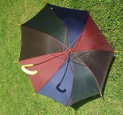 Vintage Striped Umbrella with bakelite handle and tips