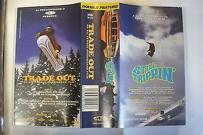 Onboard STILL TRIPPIN + TRADE OUT Snowboard Video Cassette 1997 VHS Snowboarding