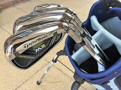 Taylormade M2 2017 irons 5 - PW with Stiff steel shafts in MINT condition