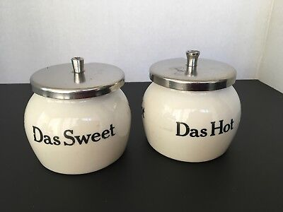 Vintage Hall China Das Sweet Das Hot Condiment Holders