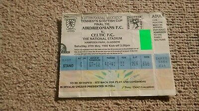 1995 CELTIC v AIRDRIEONIANS TICKET STUB SCOTTISH CUP FINAL 27/05/95 AIRDRIE