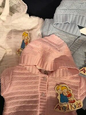 Spanish Baby Boys Girls Cardigan Hooded Jumper Blue or Pink 0-3 3-6 6-9 Mths