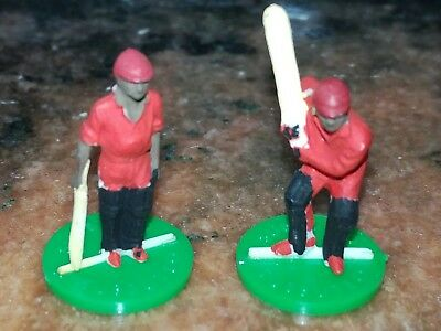 subbuteo cricket West Indies bats man in red