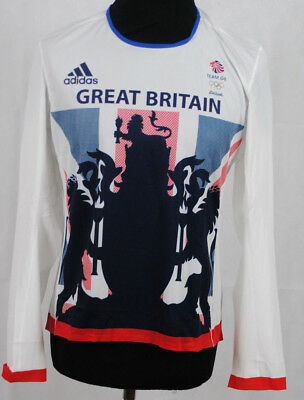 Ladies Official ADIDAS RIO 2016 Cycling/Running Long Sleeve T-Shirt Top Size 10
