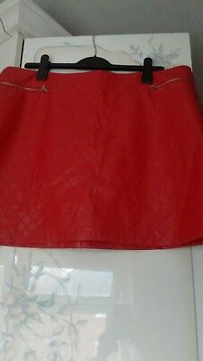 Ladies Stunning Pvc Skirt. Size 20. New!