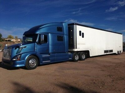 2000 Featherlite 53ft 4 Car Stacker liftgate trailer with Lounge
