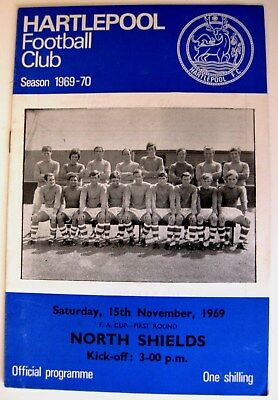 Hartlepool v North Shields 1969/70 F.A. Cup R1. programme.