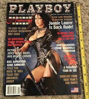 Playboy Magazine January 2002  Vol. 49, No. 1 - Pro Wrestler Joanie Laurer