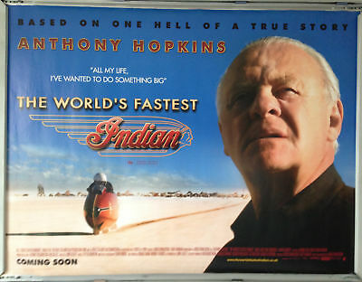 Cinema Poster: WORLD'S FASTEST INDIAN, THE 2006 (Quad) Anthony Hopkins