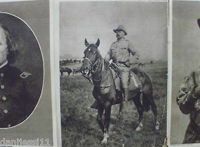 LOT OF 3 MAGAZINE PAGES '20 great images of T. Roosevelt & C.Carson