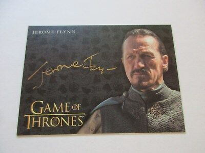 Game of Thrones Valyrian Steel Jerome Flynn as Bronn GOLD Autograph