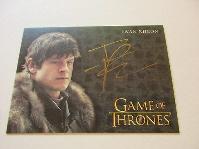 Game of Thrones Valyrian Steel Iwan Rheon as Ramsay Bolton GOLD Autograph